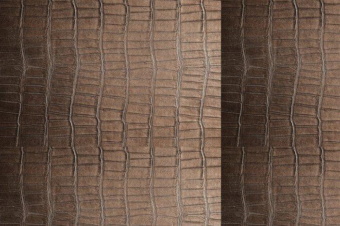 Tapeta Pixerstick Přírodní hnědá kůže foto pozadí textury - Struktury