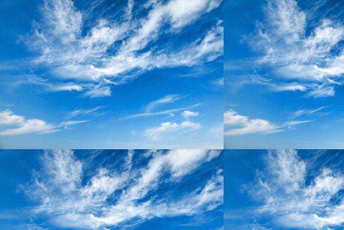 Tapeta Pixerstick Přírodní modré zatažené obloze na pozadí textury - Nebe