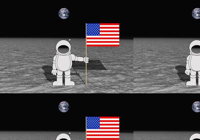 Tapeta Pixerstick Přistání na měsíci - Meziplanetární prostor