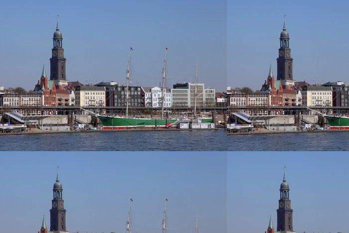 Tapeta Pixerstick Přístav Hamburk na mola - Evropa
