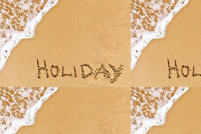 Tapeta Pixerstick Psaný dovolená natažený na písku - Prázdniny