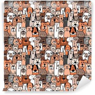 Vinylová Tapeta Psi a kočky bezproblémovou