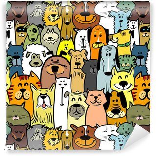 Tapeta Winylowa Psy i koty