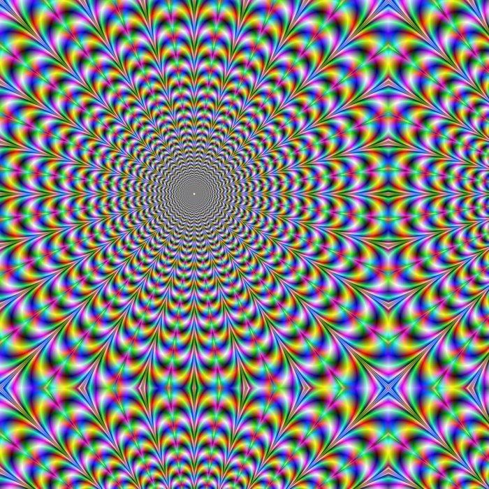 Vinylová Tapeta Psychedelic Web -