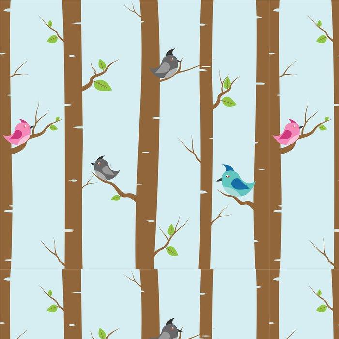 Tapeta Pixerstick Ptáci a stromy - Ptáci