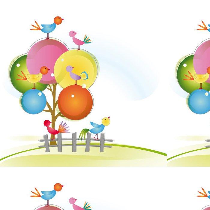 Tapeta Pixerstick Ptáci - Roční období
