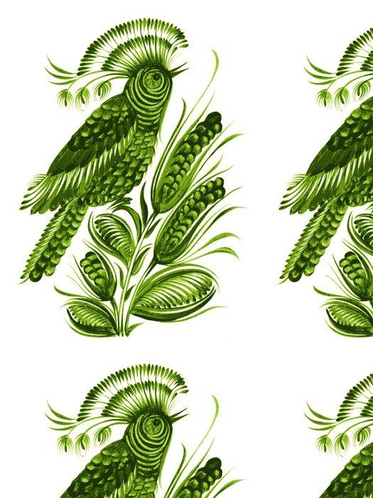 Tapeta Pixerstick Pták květina etnickém stylu vektoru - Umění a tvorba