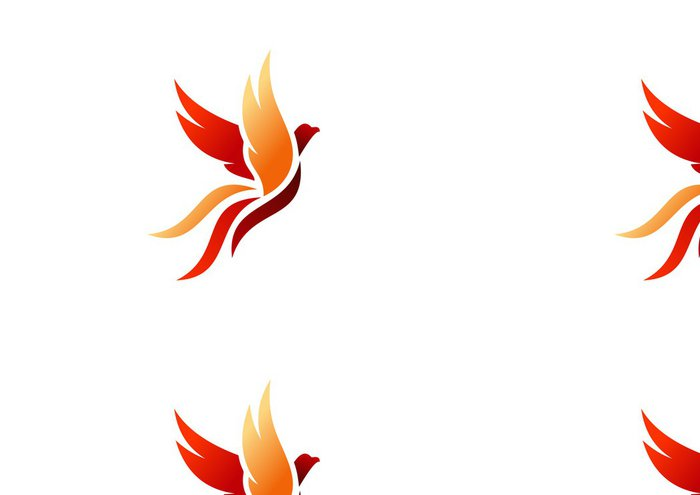 Tapeta Pixerstick Pták, logo, fénix, létání, jestřáb, orel, křídla, ikona, symbol - Ptáci