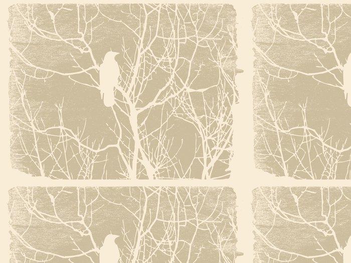 Vinylová Tapeta Pták silueta na pozadí grunge - Ptáci