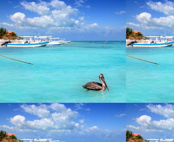 Tapeta Pixerstick Puerto Morelos beach Mayan riviera Karibské moře - Amerika