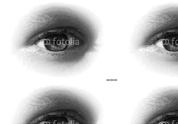 Vinylová Tapeta Půltón očí / vector. Vektor půltón, na základě mých fotografií. - Pozadí