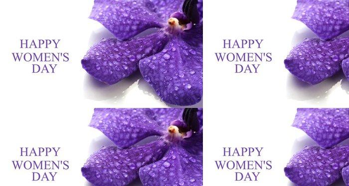 Tapeta Pixerstick Purple Orchid Flower izolovaných na bílém - Květiny