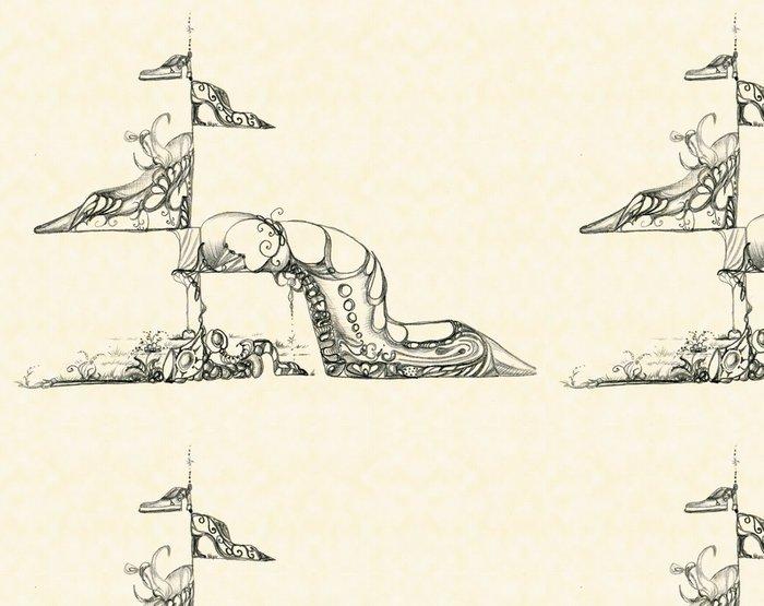 Tapeta Pixerstick Původní ozdoba dámských bot - Jiné objekty