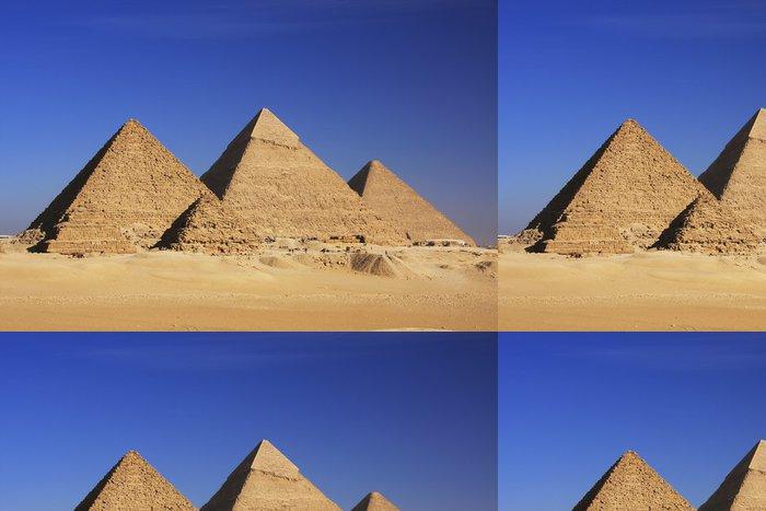 Tapeta Pixerstick Pyramidy v Gíze, Káhira - Pouště