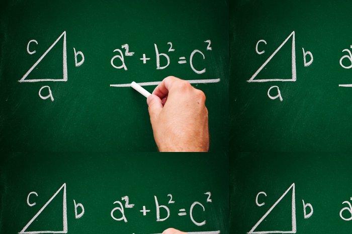 Tapeta Pixerstick Pythagorova věta - Vzdělávání