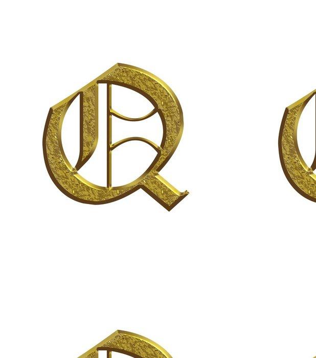 Tapeta Pixerstick Q - Abeceda en nebo - Lettrine - Značky a symboly