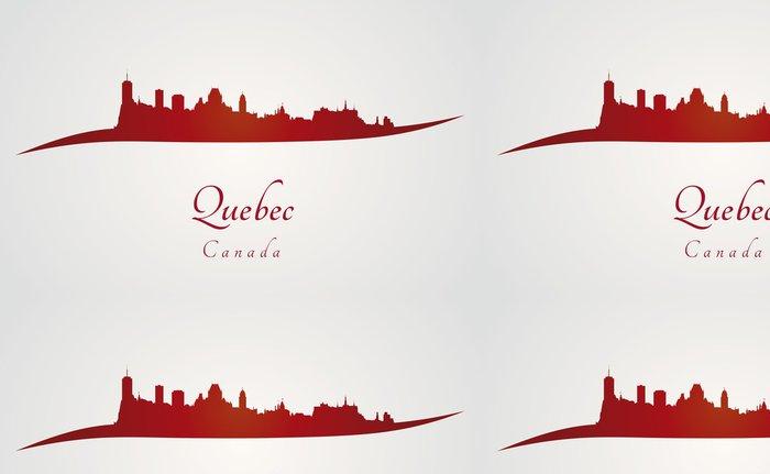 Tapeta Pixerstick Quebec panorama v červeném - Amerika