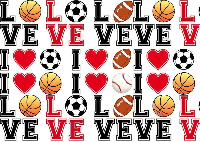 Tapeta Pixerstick Rádi fotbal, fotbal, basketbal, baseball, vektorové sada - Osud