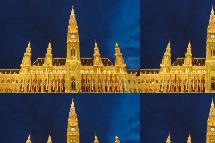 Tapeta Pixerstick Radnice ve Vídni v noci, Rakousko - Evropská města