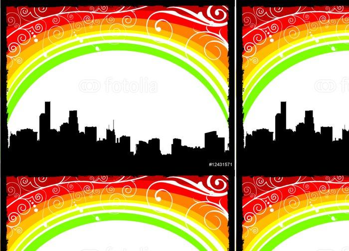 Tapeta Pixerstick Rainbow vektor město - Situace v podnikání