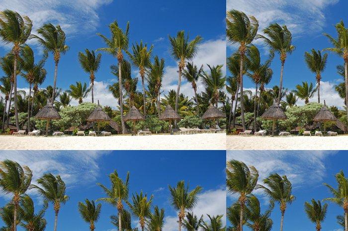 Tapeta Pixerstick Ráj pláž Flic en Flac na ostrově Mauritius - Prázdniny