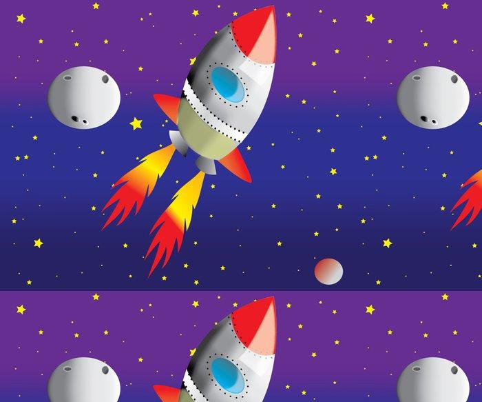Tapeta Pixerstick Raketa na Mars - Meziplanetární prostor