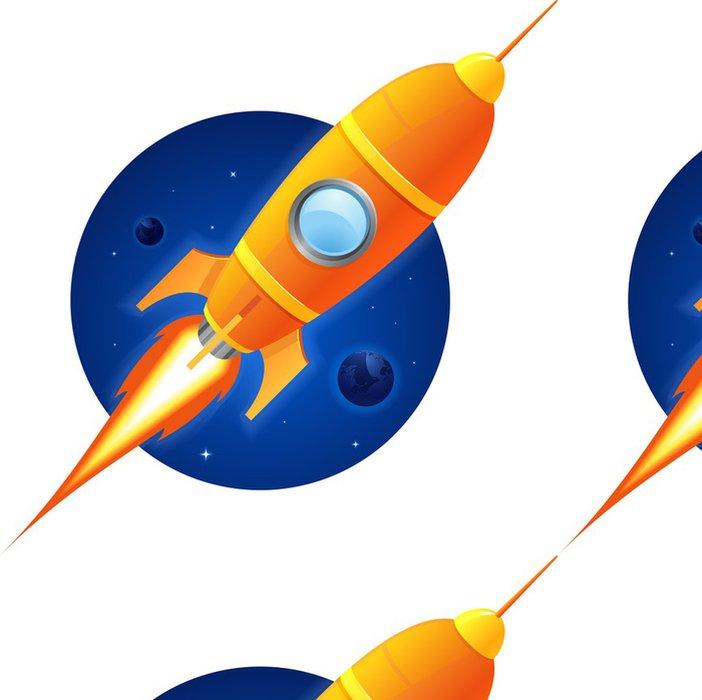 Tapeta Pixerstick Raketa - Meziplanetární prostor