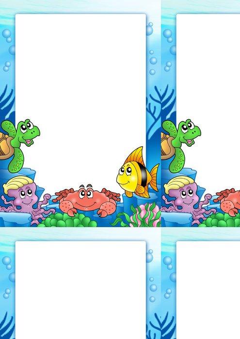 Tapeta Pixerstick Rám s různých mořských živočichů - Ostatní Ostatní