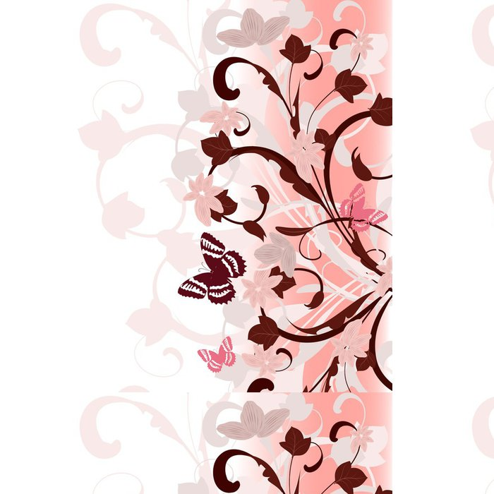 Tapeta Pixerstick Rámeček růžový vzorek - Pozadí