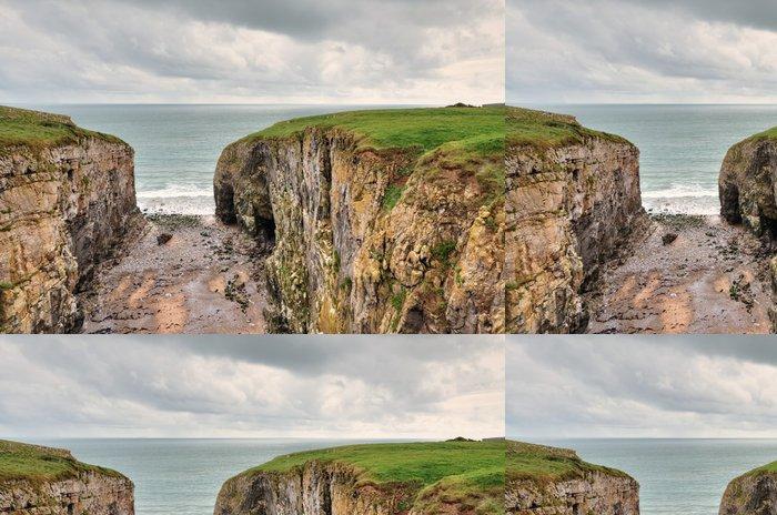 Tapeta Pixerstick Raming díra, pobřežní funkce v Pembrokeshire. - Evropa