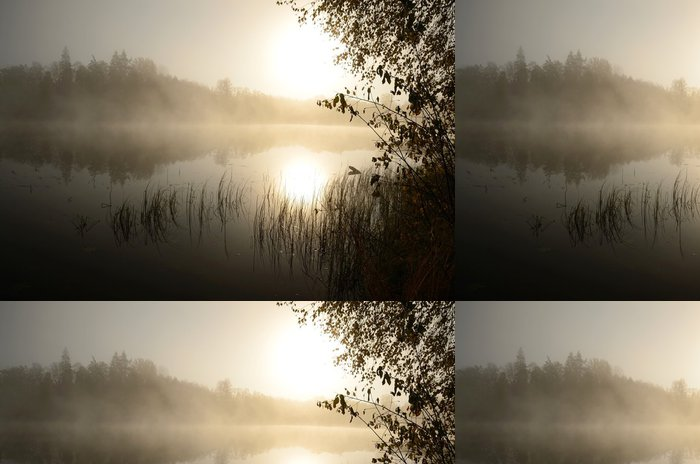 Tapeta Pixerstick Ranní mlha nad jezerem - Témata