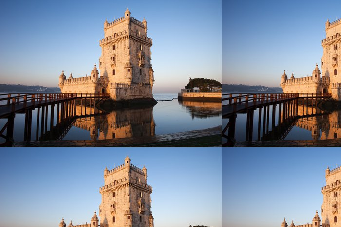 Tapeta Pixerstick Ráno v Belem Tower v Lisabonu - Témata