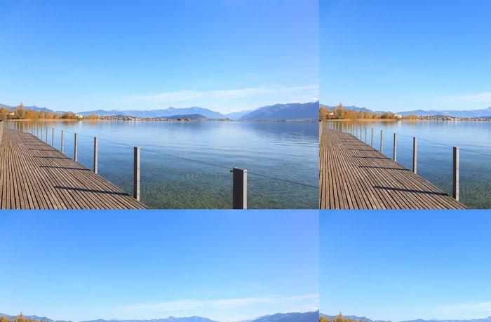 Tapeta Pixerstick Rapperswil, zobrazit u jezera Obersee - Voda