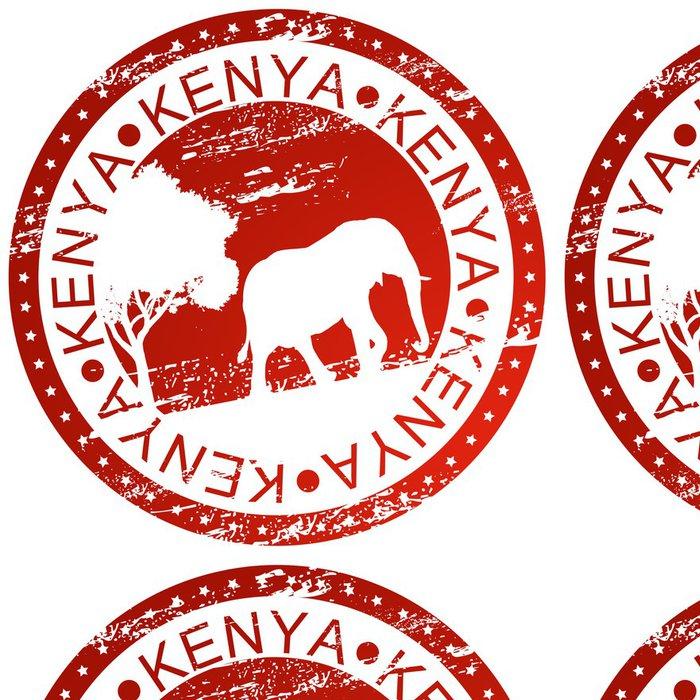 Tapeta Pixerstick Razítko - Keňa - Afrika