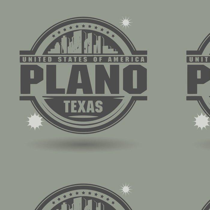 Tapeta Pixerstick Razítko nebo štítek s textem Plano v Texasu uvnitř - Amerika