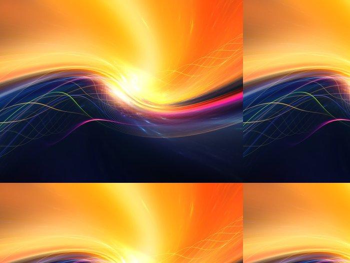 Vinylová Tapeta Realms of Fractal Waves - Pozadí