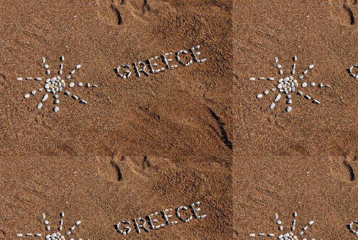 Tapeta Pixerstick Řecko nápis oblázků - Evropa