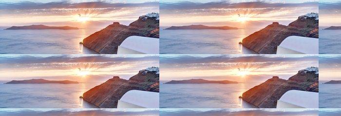 Tapeta Pixerstick Řecko Santorini západ slunce z Imerovigli úžasným výhledem na moře - Evropa