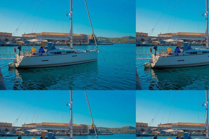 Vinylová Tapeta Řecko Siros, hlavní přístav názor za plachetnici, Siros je G - Evropská města