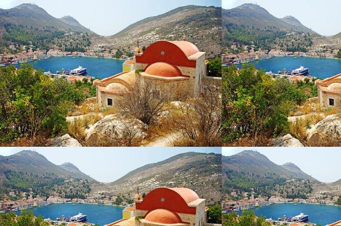 Tapeta Pixerstick Řecký ostrov scenic- Kastelorizo, pohled s klášterem - Evropa