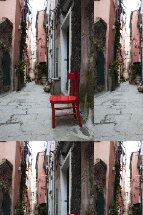 Vinylová Tapeta Red Chair v italské uličce - Evropa