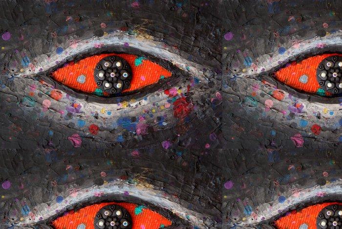 Tapeta Pixerstick Red Eye - Umění a tvorba