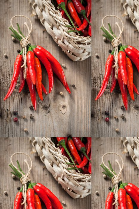 Vinylová Tapeta Red hot chilli papričky - Koření a bylinky