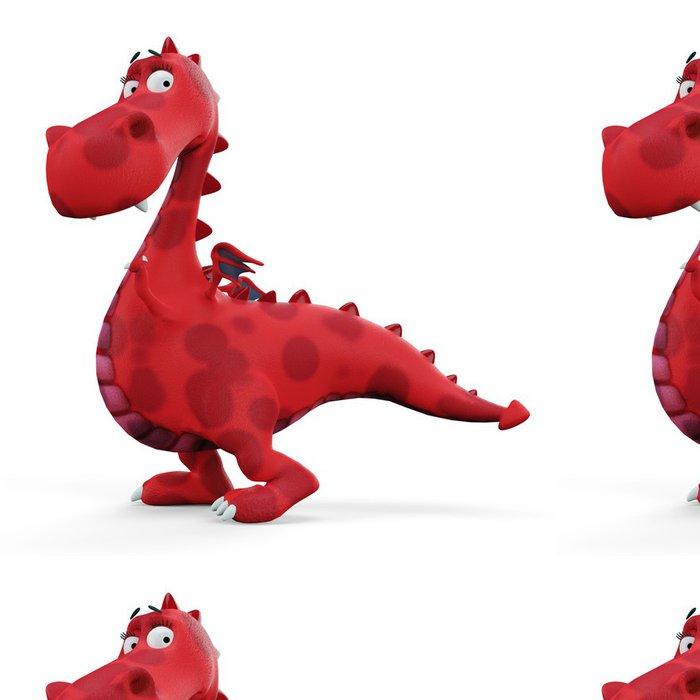 Tapeta Pixerstick Red hot dino dragon dítě - Nálepka na stěny