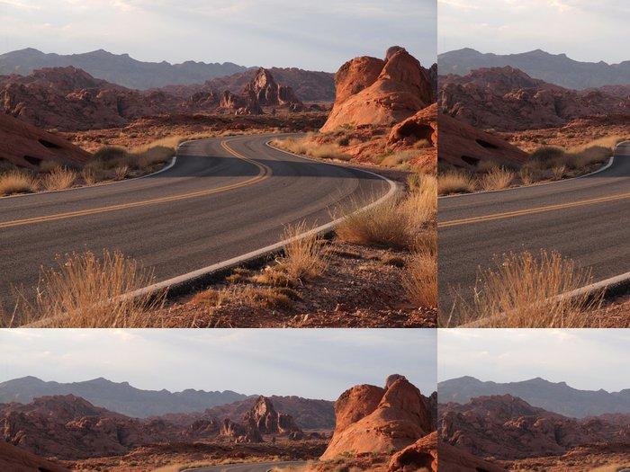 Tapeta Pixerstick Red Hot Highway - Amerika
