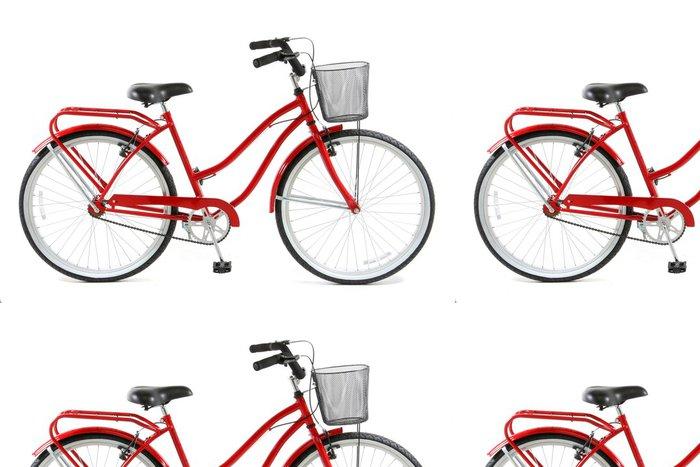 Tapeta Pixerstick Red kol na bílém pozadí - Na cestě