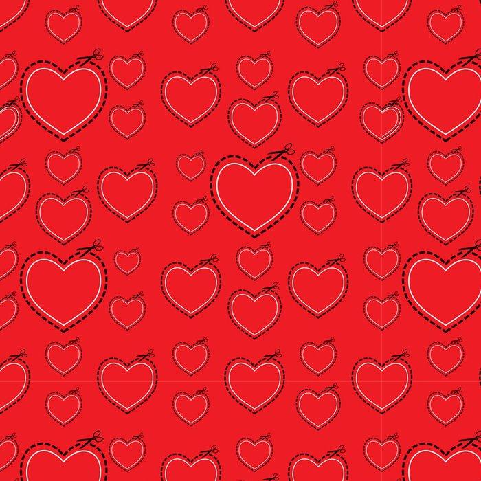 Vinylová Tapeta Red love heart šablony - Pozadí