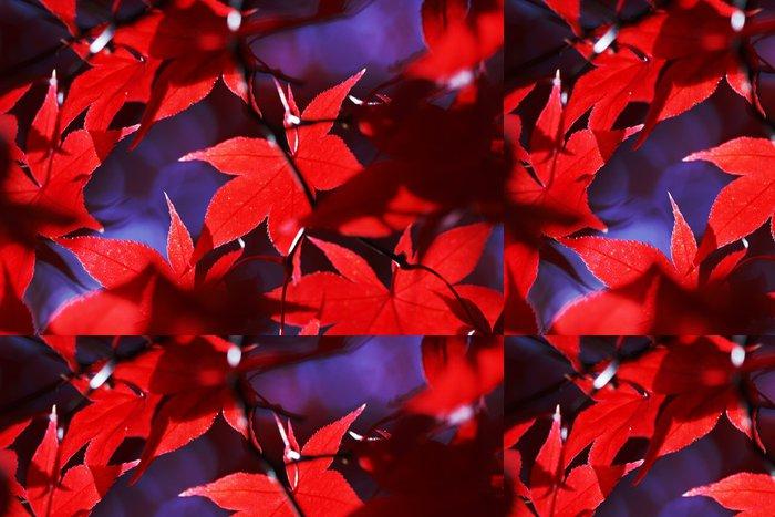Tapeta Pixerstick Red podzimní listí - Témata