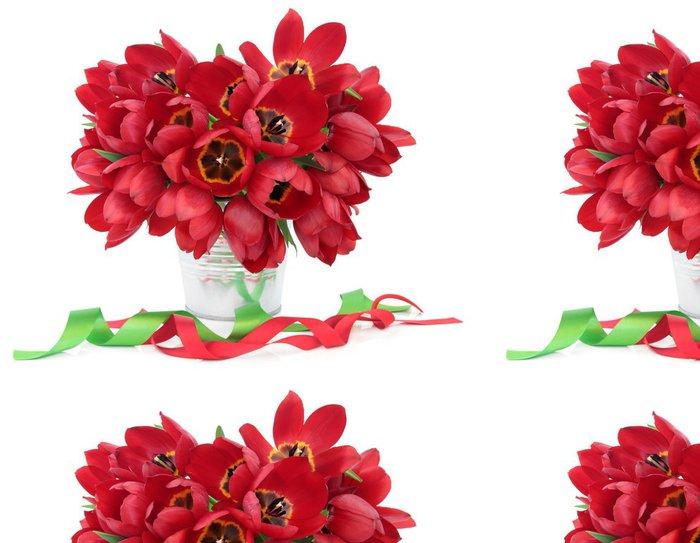 Tapeta Pixerstick Red Tulip Beauty - Roční období