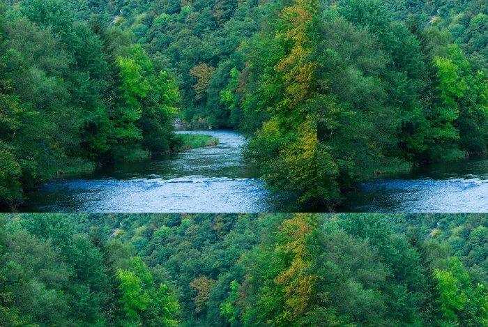 Tapeta Pixerstick Řeka a zelené lesy - Témata